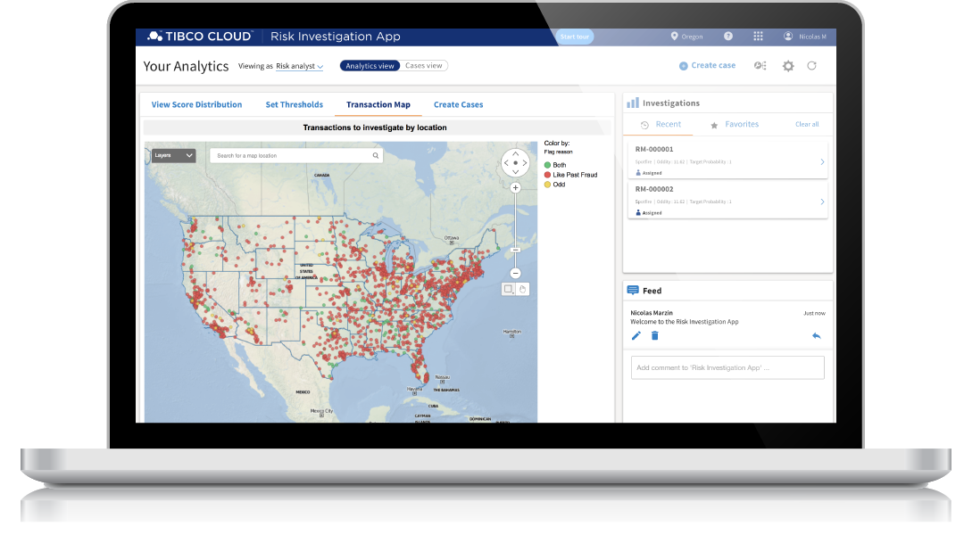 TIBCO Cloud Risk Investigation App