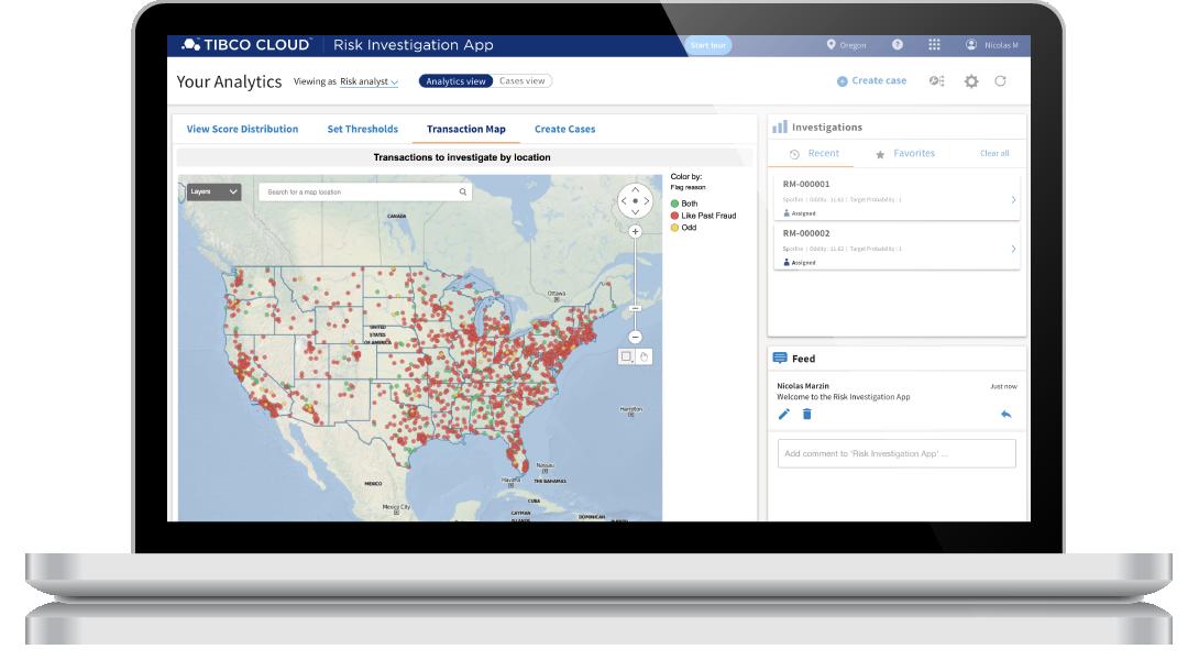 TIBCO Cloud Risk Investigation App